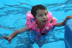 The boy in pool. Royalty Free Stock Image
