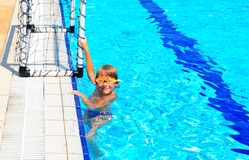 Boy In Pool Royalty Free Stock Photography
