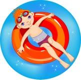 Boy at the pool. Royalty Free Stock Image