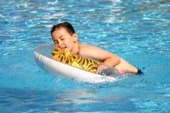 Boy at the Pool Royalty Free Stock Photos