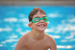 Boy at the Pool Royalty Free Stock Image