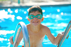 Boy at the Pool Royalty Free Stock Photo