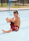 Boy at the Pool Stock Photography