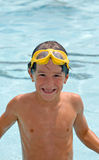 Boy at the Pool Royalty Free Stock Images