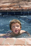Boy in a Pool Royalty Free Stock Image