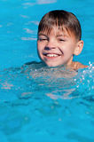 Boy in pool Stock Photo