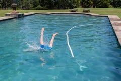 Boy Pool Jumping Stock Photos