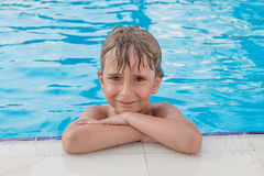boy in the pool Royalty Free Stock Image