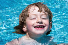 Boy in the pool Royalty Free Stock Photos