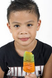 Boy & Popsicle Royalty Free Stock Photo