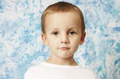 Boy portrait. Portrait of cute boy in a studio Stock Photo