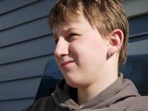 A boy portrait. A portrait of a thinking boy Stock Photo