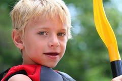 Boy Portrait. Cute boy enjoying the outdoors Stock Photos