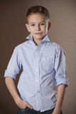 Boy Portrait in business shirt Stock Photos