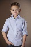 Boy Portrait in business shirt Stock Photos
