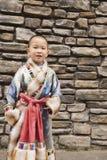 Smile boy ethnic robe Stock Image
