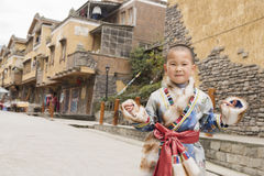 Boy ethnic robe Stock Photography