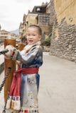 Boy ethnic robe Stock Photos