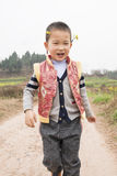 Boy walking in field Royalty Free Stock Photo