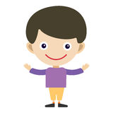 Boy portrait fun happy young expression cute teenager cartoon character and happyness little kid flat human cheerful joy Stock Image