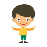 Boy portrait fun happy young expression cute teenager cartoon character and happyness little kid flat human cheerful joy Stock Photo