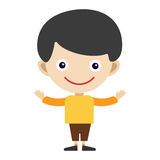 Boy portrait fun happy young expression cute teenager cartoon character and happyness little kid flat human cheerful joy Royalty Free Stock Images