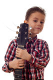 Boy portrait with guitar Royalty Free Stock Photo