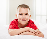 Boy portrait home Stock Image