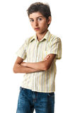 Boy portrait isolated white Royalty Free Stock Images