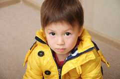 Boy portrait in jacket Royalty Free Stock Photography