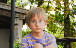 Boy portrait. A portrait in  the late afternoon Royalty Free Stock Image