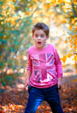 Boy portrait outdoor Royalty Free Stock Photo