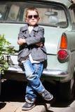 Boy portrait outdoors Stock Photos
