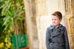 Boy portrait outdoors Royalty Free Stock Photo