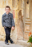 Boy portrait outdoors Royalty Free Stock Photos