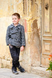 Boy portrait outdoors Royalty Free Stock Images
