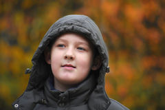 The boy a portrait in park a close-up Stock Images
