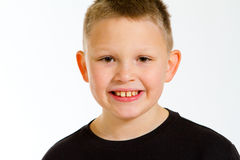 Boy Portrait in Studio Stock Images