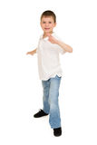 Boy portrait in studio isolated Royalty Free Stock Photography