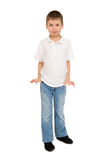 Boy portrait in studio isolated Royalty Free Stock Photo
