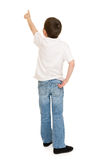 Boy portrait in studio isolated Royalty Free Stock Images