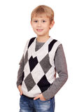 Boy portrait on white Stock Images