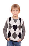 Boy portrait on white Stock Photography