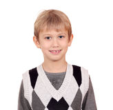 Boy portrait on white Royalty Free Stock Image