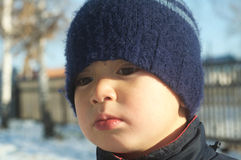 Boy portrait in winter Stock Photography