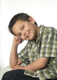 Boy Posing. A boy posing for the camera, for a school portrait Royalty Free Stock Photography
