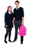Boy posing with female student Royalty Free Stock Photos