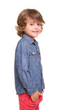 Boy posing over white Royalty Free Stock Photo