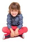 Boy posing over white Stock Photography