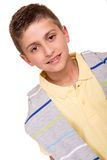 Boy posing over white Royalty Free Stock Photography